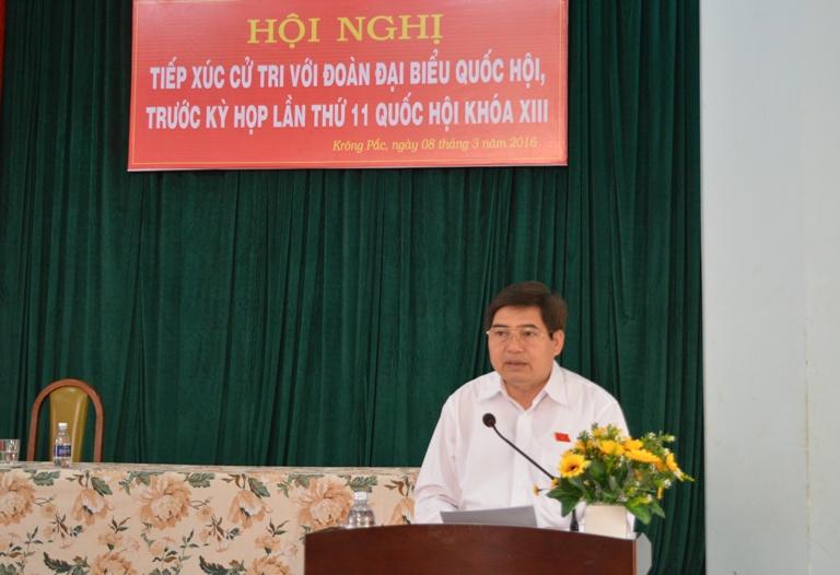 Đoàn Đại biểu Quốc hội tỉnh tiếp xúc cử tri tại huyện Krông Pắk.