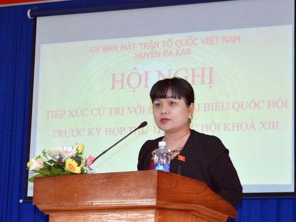 Đoàn Đại biểu Quốc hội tỉnh tiếp xúc cử tri tại huyện Ea Kar