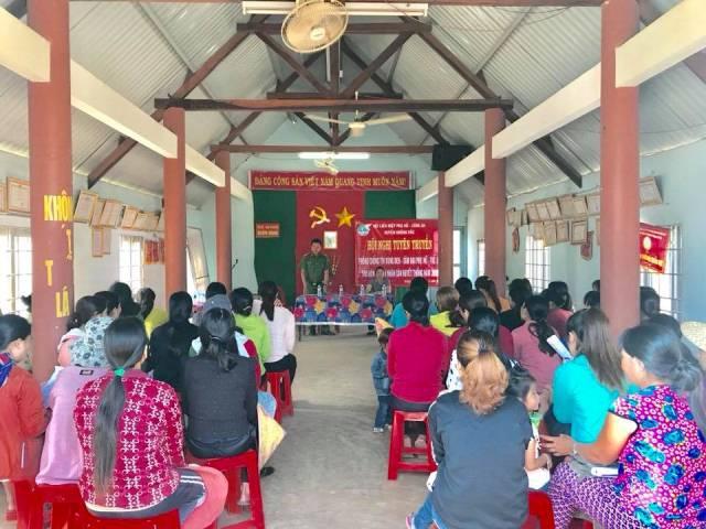 Hội Liên hiệp Phụ nữ huyện Krông Pắc  tuyên truyền pháp luật về hôn nhân và phòng, chống tín dụng đen