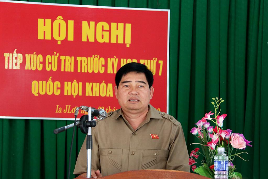 Đoàn Đại biểu Quốc hội tỉnh tiếp xúc cử tri xã Ia Jlơi, huyện Ea Súp
