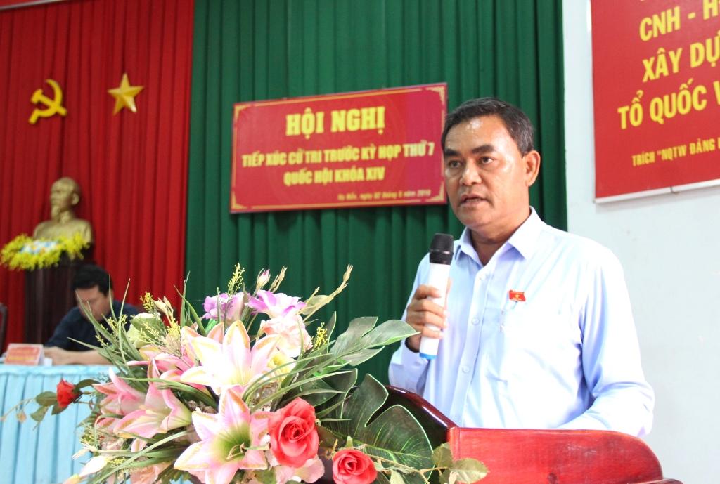 Đoàn Đại biểu Quốc hội tỉnh tiếp xúc cử tri huyện Krông Pắk