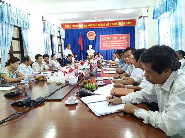 Huyện M'Đrắk: Sơ kết tháng 4 và triển khai phương hướng nhiệm vụ tháng 5 năm 2019