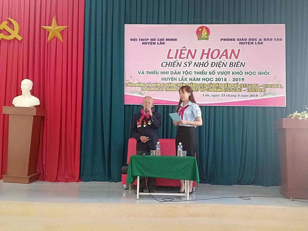 Liên hoan Chiến sỹ nhỏ Điện Biên và thiếu nhi dân tộc thiểu số vượt khó học giỏi năm học 2018 – 2019 huyện Lắk