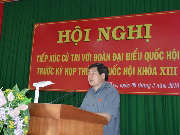 Đoàn Đại biểu Quốc hội tỉnh tiếp xúc với cử tri huyện Ea H'Leo