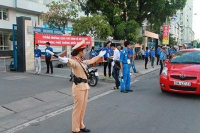 Bảo đảm trật tự, an toàn giao thông trong kỳ thi THPT quốc gia, tuyển sinh đại học
