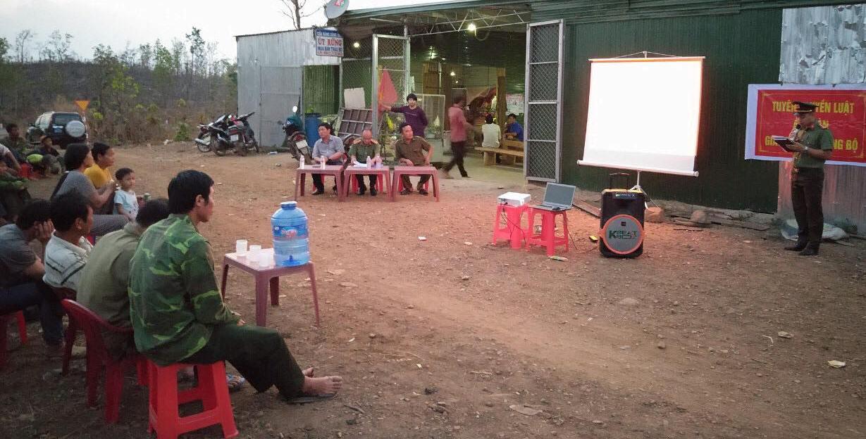 Phát động phong trào toàn dân bảo vệ an ninh Tổ quốc tại xã Cư Kbang, huyện Ea Súp