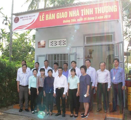 Trường Hoàng Việt bàn giao nhà tình thương tại xã Quảng Tiến, huyện Cư M'gar