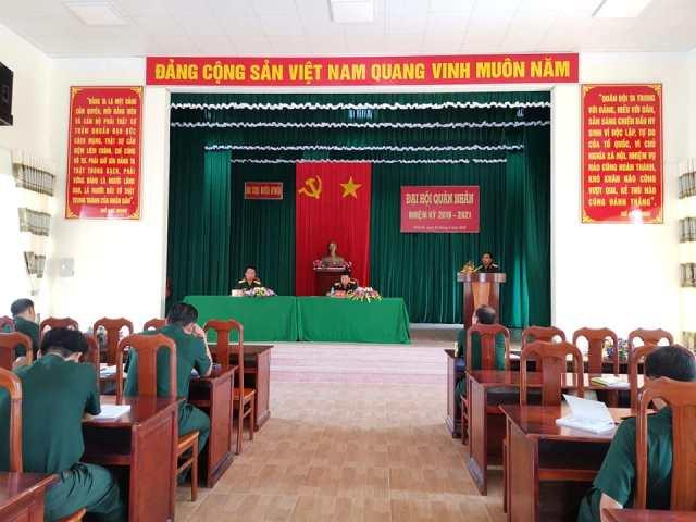 Ban CHQS huyện M'Đrắk tổ chức Đại hội quân nhân nhiệm kỳ 2019 – 2021