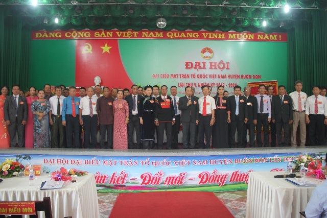 Đại hội Mặt trận Tổ quốc Việt Nam huyện Buôn Đôn lần thứ V, nhiệm kỳ 2019 – 2024