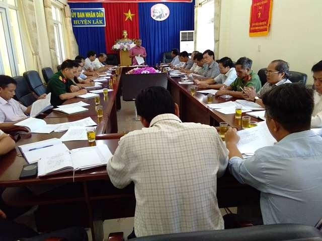 UBND huyện Lắk đánh giá tình hình phát triển kinh tế - xã hội, quốc phòng – an ninh tháng 5 triển khai nhiệm vụ tháng 6 năm 2019.