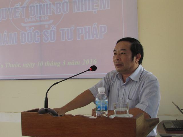 Ủy ban nhân dân tỉnh Đắk Lắk trao Quyết định bổ nhiệm chức vụ Phó Giám đốc Sở Tư pháp