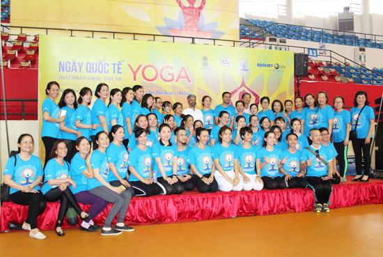 Tổ chức chương trình Ngày Quốc tế Yoga lần thứ 5 tại tỉnh