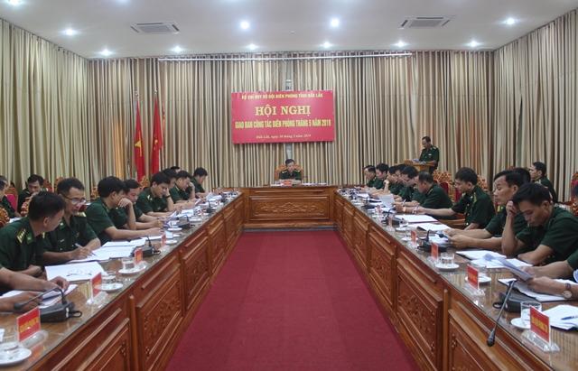 Hội nghị  giao ban công tác biên phòng
