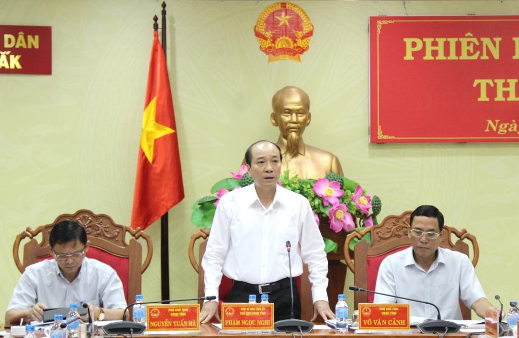 UBND tỉnh họp Phiên thường kỳ tháng 5/2019