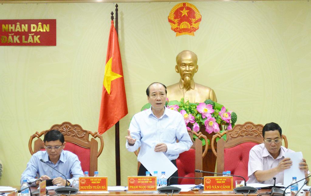 UBND tỉnh họp thông qua nội dung trình Kỳ họp thứ 8, HĐND tỉnh khóa IX