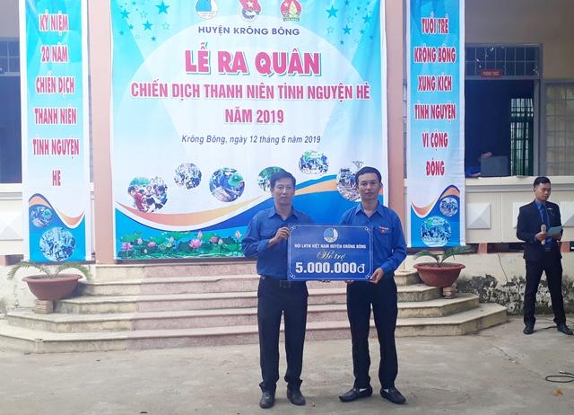 Huyện Krông Bông ra quân Chiến dịch Thanh niên tình nguyện hè năm 2019