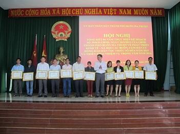 Thành phố Buôn Ma Thuột Hội nghị tổng kết 4 năm thực hiện Kế hoạch về phát triển kinh tế - xã hội các buôn, cụm dân cư đồng bào dân tộc thiểu số