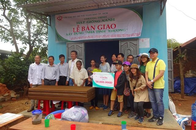 Hỗ trợ xây nhà tình thương cho hộ gia đình khó khăn tại xã DLiê Ya và Phú Lộc.