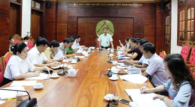 Ban Pháp chế, HĐND tỉnh họp thẩm tra các nội dung trình Kỳ họp thứ 8, khóa IX.