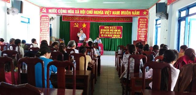 Hội Liên hiệp Phụ nữ xã Tân Hòa, huyện Buôn Đôn tổ chức Hội nghị Đối thoại giữa người đứng đầu cấp ủy, chính quyền với cán bộ, hội viên phụ nữ - nông dân.