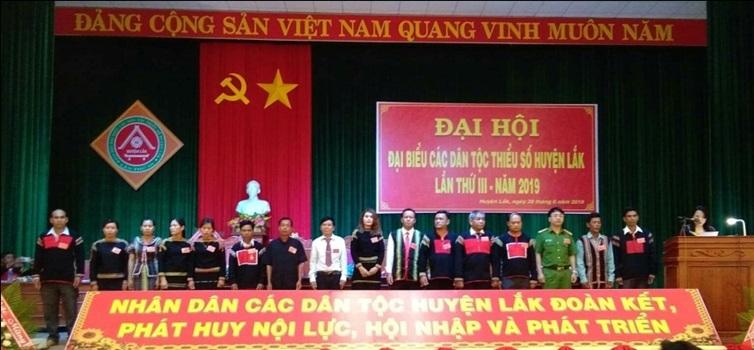 Đại hội đại biểu các dân tộc thiểu số huyện Lắk lần thứ 3 năm 2019