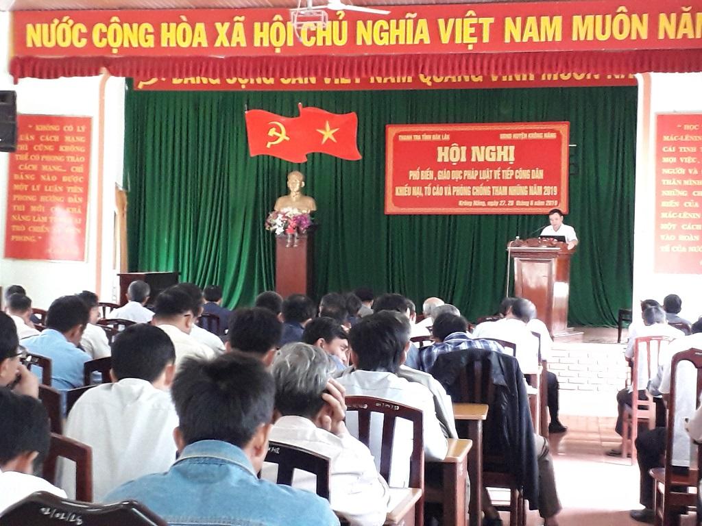 Huyện Krông Năng: Tổ chức Hội nghị tập huấn phổ biến pháp luật năm 2019