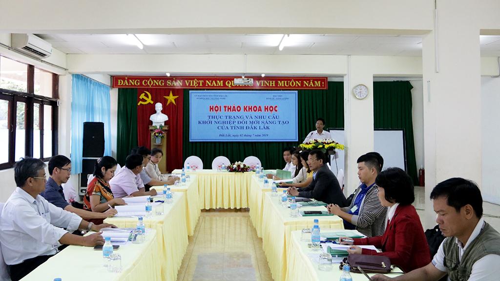 """Hội thảo khoa học """"Thực trạng và nhu cầu khởi nghiệp đổi mới sáng tạo của tỉnh Đắk Lắk"""""""