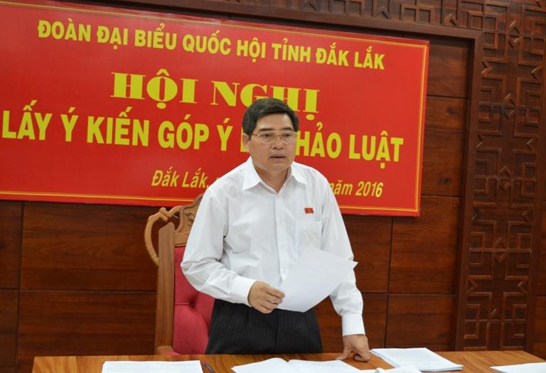 Đoàn Đại biểu Quốc hội tỉnh lấy ý kiến góp ý dự thảo Luật.