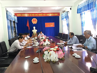 UBND huyện M'Đrắk làm việc với đơn vị tư vấn thiết kế gói thầu 04-JICA- Đắk Lắk