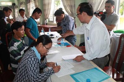 Toàn tỉnh đã cấp 6.144 Giấy chứng nhận quyền sử dụng đất lần đầu cho hộ gia đình, cá nhân