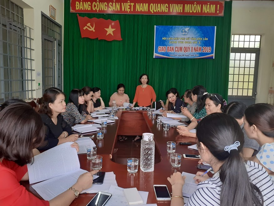 Hội nghị giao ban phong trào phụ nữ và công tác Hội 6 tháng đầu năm 2019 Cụm thi đua số 1 - Hội Liên hiệp Phụ nữ tỉnh