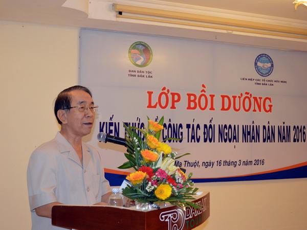 Bồi dưỡng kiến thức đối ngoại nhân dân cho đội ngũ cán bộ làm công tác dân tộc trong tỉnh.