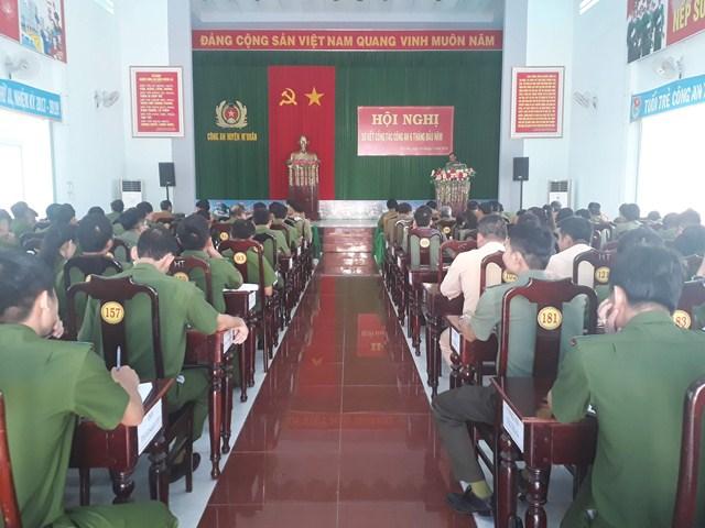 Công an huyện M'Đrắk sơ kết công tác 06 tháng đầu năm 2019