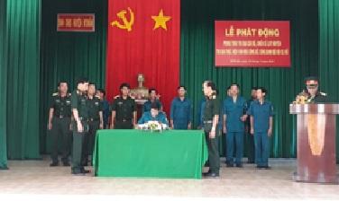 Huyện M'Đrắk phát động phong trào thi đua cán bộ, chiến sĩ lực lượng vũ trang