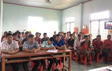 Khai giảng lớp dạy nghề xây dựng dân dụng tại xã Cư Prao, huyện M'Drắk