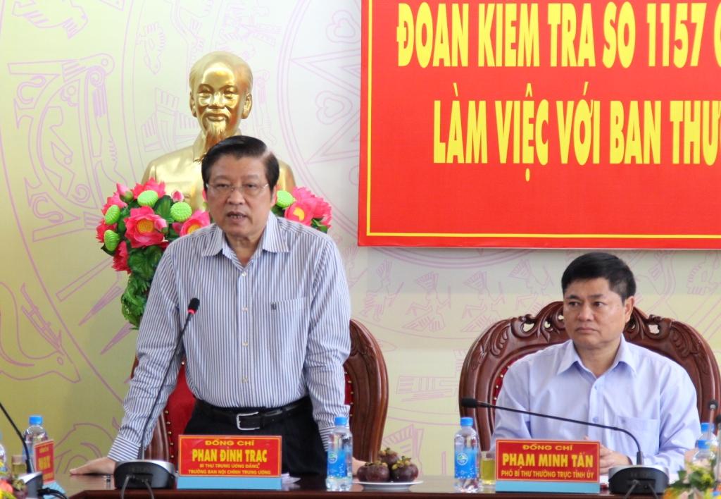 Đoàn kiểm tra của Ban Bí thư Trung ương làm việc tại Đắk Lắk