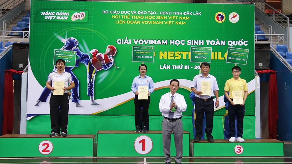 Giải Vovinam học sinh toàn quốc 2019: Đắk Lắk xếp hạng Nhì khối Tiểu học