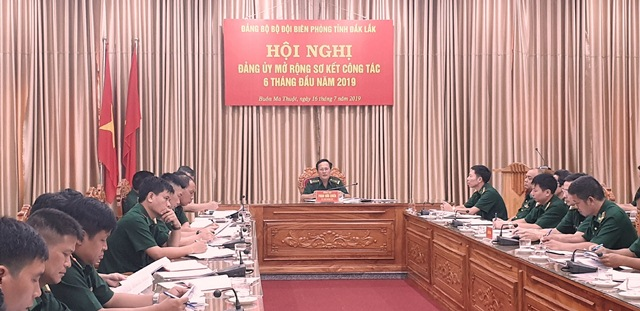 Đảng ủy Bộ đội Biên phòng tỉnh Đắk Lắk sơ kết công tác 6 tháng đầu năm 2019
