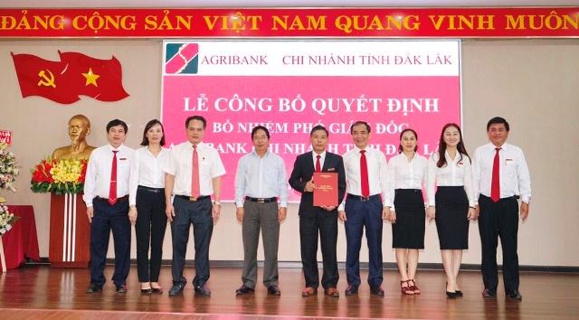 Agribank Đắk Lắk bổ nhiệm Phó Giám đốc