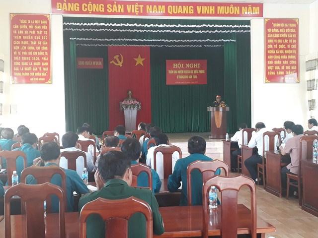 Huyện M'Đrắk triển khai nhiệm vụ Quân sự- Quốc phòng 06 tháng cuối năm 2019