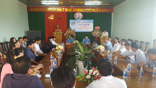 Liên đoàn Lao động huyện Ea H'Leo: Toạ đàm kỷ niệm 90 năm ngày thành lập Công đoàn Việt Nam