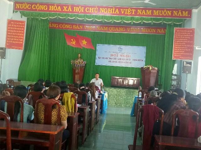 Hội Liên hiệp Phụ nữ thị trấn Quảng Phú, huyện Cư M'gar tổ chức Hội nghị Tiếp xúc đối thoại giữa lãnh đạo cấp ủy, chính quyền với cán bộ, hội viên phụ nữ