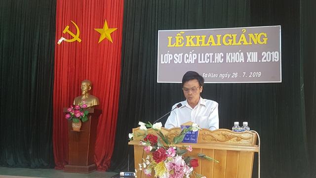 Huyện Ea H'Leo khai giảng lớp sơ cấp lý luận chính trị hành chính khóa XIII, năm 2019