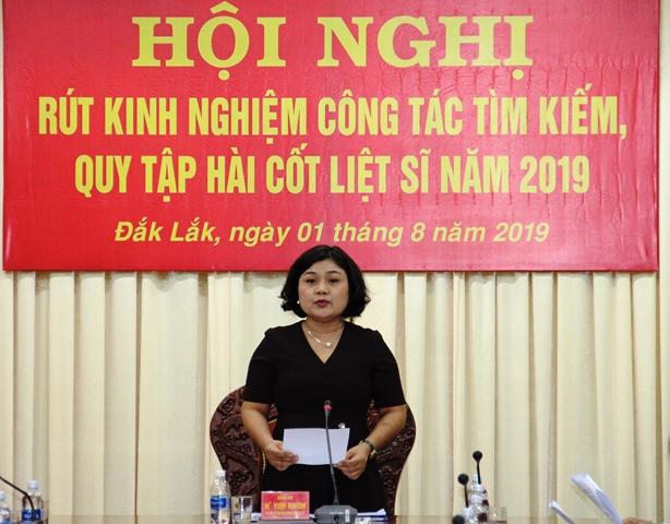 Hội nghị rút kinh nghiệm công tác tìm kiếm, quy tập hài cốt liệt sĩ năm 2019