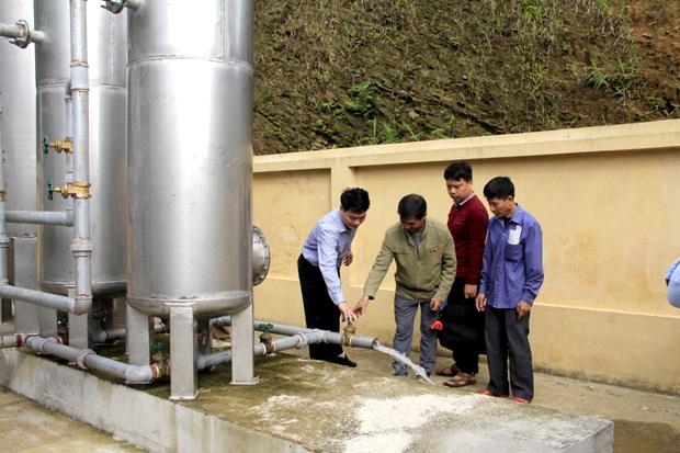 Báo cáo việc quản lý, sử dụng và khai thác công trình cấp nước sạch nông thôn tập trung trên địa bàn tỉnh.