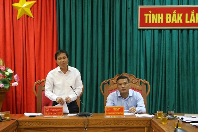 Đoàn công tác của BCĐ Trung ương về Phòng chống thiên tai làm việc tại Đắk Lắk