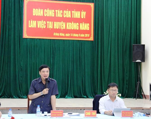 Đoàn công tác Thường trực Tỉnh ủy làm việc với Huyện ủy Krông Năng