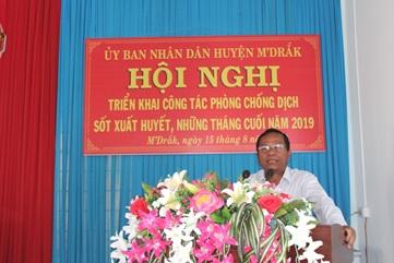 Huyện M'Đrắk triển khai công tác phòng chống dịch sốt xuất huyết