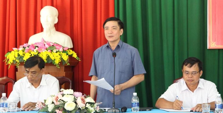 Bí thư Tỉnh ủy Bùi Văn Cường làm việc, đối thoại với người dân xã Cư Pui