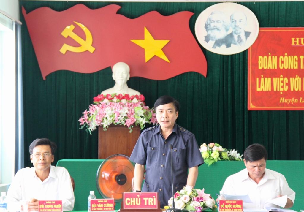Đoàn công tác của Thường trực Tỉnh ủy làm việc với Huyện ủy Lắk